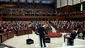 Barack Obama addresses Turkish Parliament 4-6-09 1.JPG