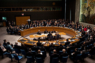 US President Barack Obama chairs a United Nations Security Council meeting. Barack Obama chairs a United Nations Security Council meeting.jpg