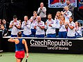 Barbora Strýcová & the Czech Fed Cup team (49790501776).jpg