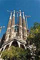 Barcelona - Plaça de la Sagrada Família - View NNE on La Sagrada Família - Passion façade I.jpg