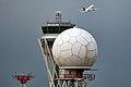 Barcelona Airport. A320 Spanair & New Tower & Radar (5116672255).jpg