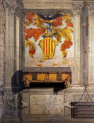 Ramon Berenguer I, Count of Barcelona - Sepulchers of Ramon Berenguer in the Cathedral of Barcelona.