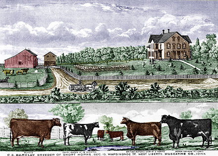 Iowa farm, 1875. Barclay barn 1875.jpg