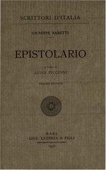 Giuseppe Marc'Antonio Baretti: Epistolario