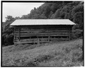 Barn, north elevation - Trump-Lilly Farm, Hinton, Summers County, WV HABS WVA,45-HINT.V,1-38.tif