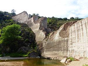 Malpasset Dam - The ruins of the dam