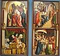 Barthel beham, ali di altare con scene della vita di maria, 1522-24 ca..JPG