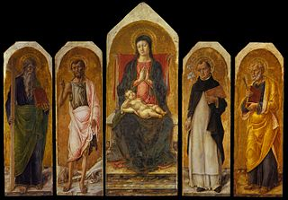 Polyptych with saints