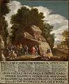 Basen o oslu, ki prenaša kip (ok. 1700).jpg