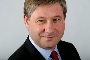 English: Basil McCrea MLA
