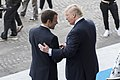 Donald Trump handshake with Emmanuel Macron