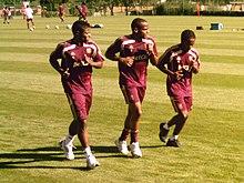 Bastos (a sinistra) insieme a Briand e Makoun in allenamento