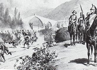 Battle of Molins de Rei - General Gouvion-Saint-Cyr at the battle of Molins de Rei, 21 December 1808.
