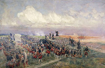 The Gardes francaises at the Battle of Fontenoy (1745) Battle-of-Fontenoy.jpg