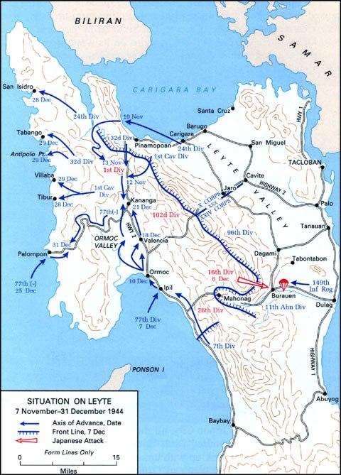 Battle of Leyte map 3
