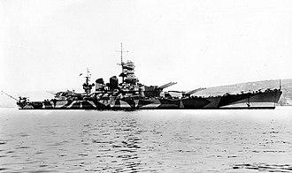 Italian battleship Roma (1940) - Image: Battleship Roma