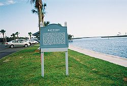 Historic plaque in Bayport, Florida