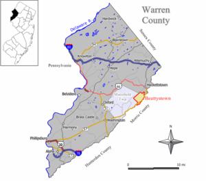 Beattystown, New Jersey - Image: Beattystown cdp nj 041