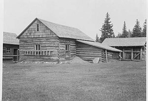 Belly River Ranger Station Historic District - Image: Belly River Ranger Station Barn