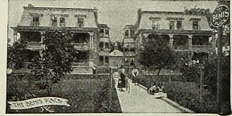 "Bemis Eye Sanitarium Complex - Image from page 45 of ""The literary digest"" (1890). The left building still stands; the right one is gone."