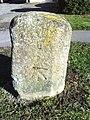 Benchmark on old milestone on Buckingham Road - geograph.org.uk - 2128702.jpg