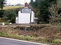 Bendy sign pointing to Ciffig Church - geograph.org.uk - 1188414.jpg