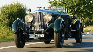 Bentley 8 Litre - Saloon rebodied with a replica tourer body.