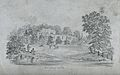 Berkeley castle, view from a distance, with a river or lake Wellcome V0018787.jpg
