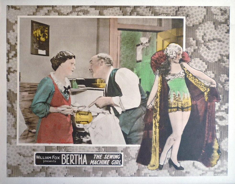 FileBertha The Sewing Machine Girl Lobby Cardjpg Wikimedia Commons Impressive Bertha The Sewing Machine Girl