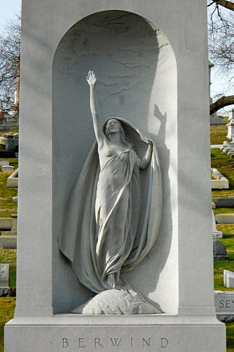 Laurel Hill Cemetery - The sculpture Aspiration by Harriet Whitney Frishmuth and the Berwind tomb
