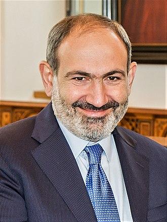 Prime Minister of Armenia - Image: Besuch des Ministerpräsidenten von Armenien, Nikol Pashinyan, im Kölner Rathaus 2162