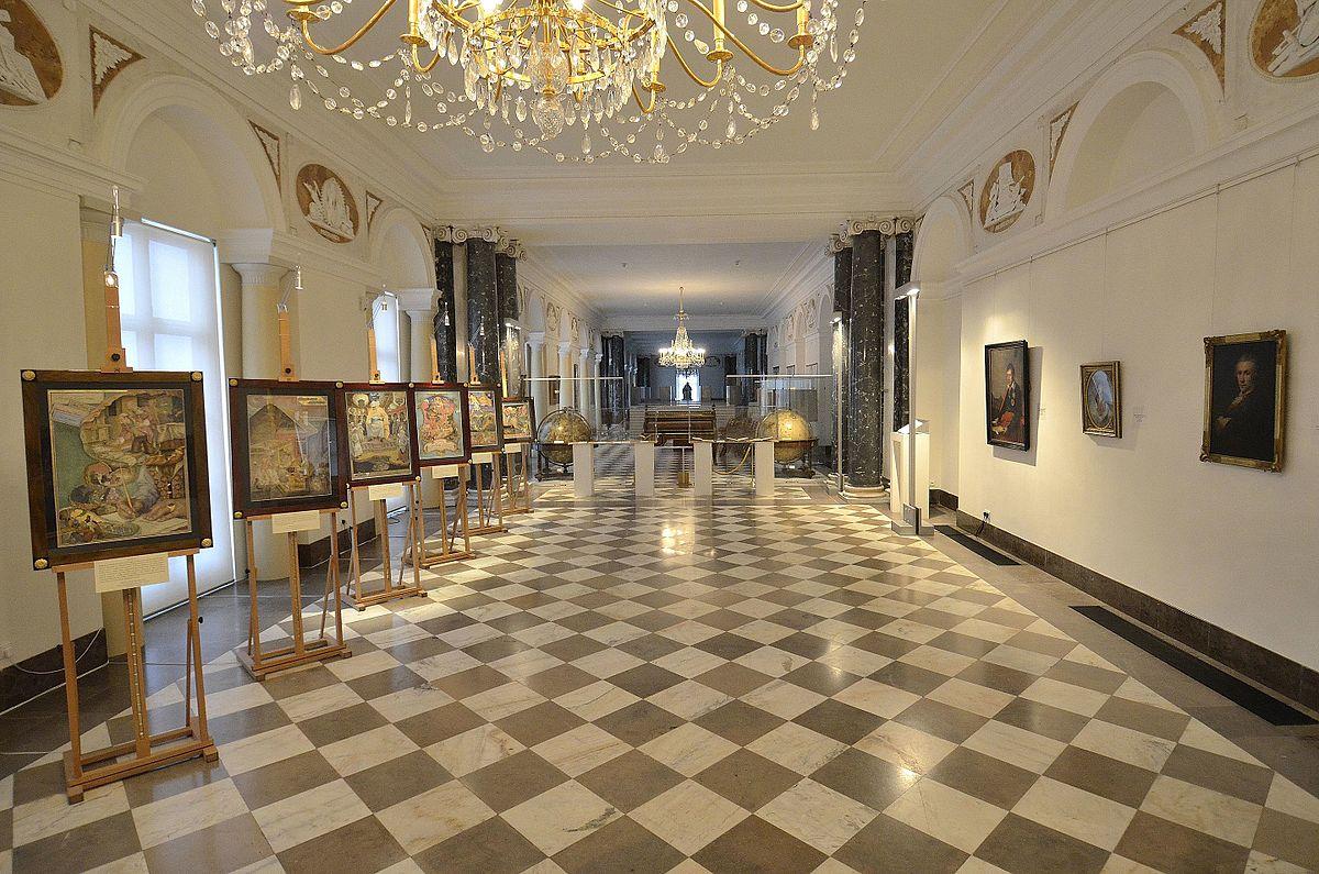 Библиотечный зал Королевской библиотеки, общий вид