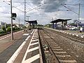 Bickenbacher (Bergstraße) Bahnhof- auf Bahnsteig zu Gleis 2- Richtung Frankfurt am Main 19.5.2012.JPG