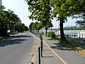 Bicycle road along the Újpest quay.JPG