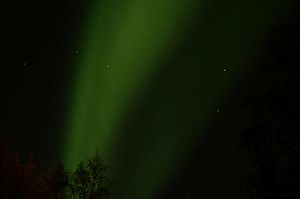 Interior Alaska - Northern Lights and Big Dipper at Fairbanks, AK during September.