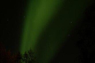 Interior Alaska - Northern Lights and Big Dipper at Fairbanks, AK during September.