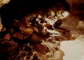 Sof Omar Caves - Big Rapids: created by the shakehole collapse and subsequent erosion by the underground river.