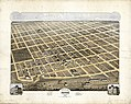 Bird's eye view of the city of Denison, Texas, 1873 LOC 2013592367.jpg