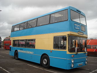 GM Buses - Birkenhead & District liveried Northern Counties bodied Daimler Fleetline in October 2009