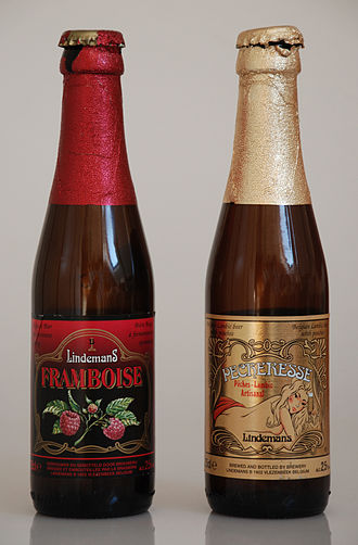 Lindemans Brewery - Framboise and Pêcheresse bottles