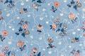 Blått blommigt tyg av engelsk chintz - Skoklosters slott - 95270.tif