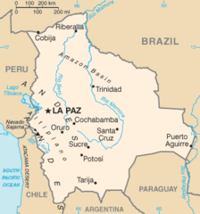 Mapa Boliwii