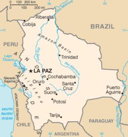 Bolivia - Mappa