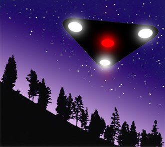 Black triangle (UFO) - An artist's concept of a black triangle object