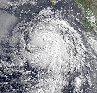 2009 Pacific hurricane season - Image: Blanca 6 July 2009
