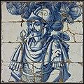Blauw tegeltableau, de Carthaagse krijgsman Hannibal met gepluimde helm, objectnr 5032.jpg