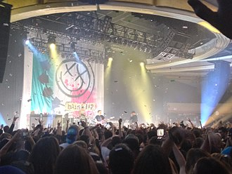 Pop punk - Pop punk band Blink-182 performing in Los Angeles, California in November 2013.