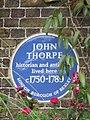 Blue plaque re John Thorpe - geograph.org.uk - 853649.jpg