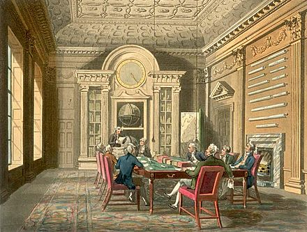 Board of Admiralty, about 1810 Board Room of Admiralty Microcosm edited.jpg