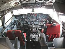 Cockpit del Boeing 707-123 B (1959).